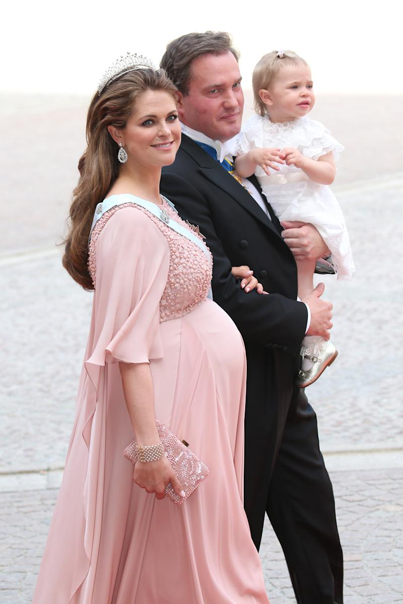 The Swedish royal had contractions throughout the ceremony and reception. Photo: Getty Images
