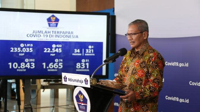 Sebaran Kasus 11.192 Positif COVID-19 di 34 Provinsi Indonesia per 3 Mei 2020