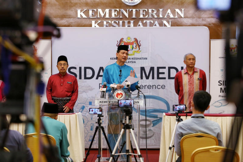 Health director-general Datuk Dr Noor Hisham Abdullah speaks during a press conference on Covid-19 in Putrajaya May 25, 2020. — Picture by Choo Choy May
