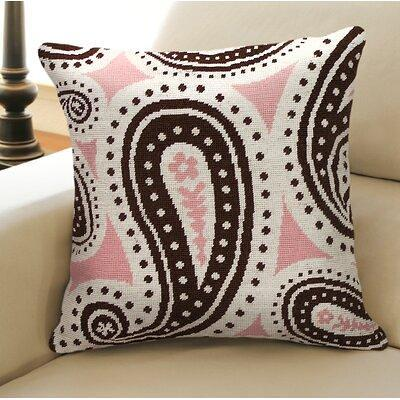 123 Creations Paisley Needlepoint Wool Throw Pillow Polyester Polyfill In Pink Brown Size 18x18 Wayfair C821 18x18 Yahoo Shopping