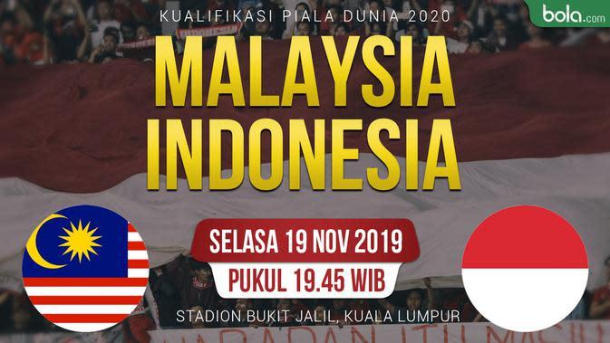 Kualifikasi Piala Dunia 2020 - Malaysia Vs Indonesia (Bola.com/Adreanus Titus)