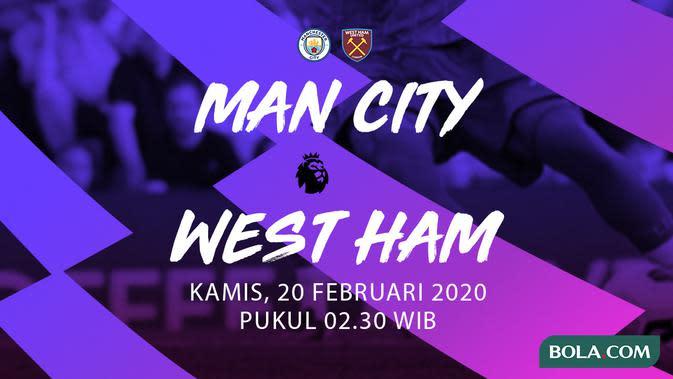 Premier League - Manchester City vs West Ham United. (Bola.com/Dody Iryawan)
