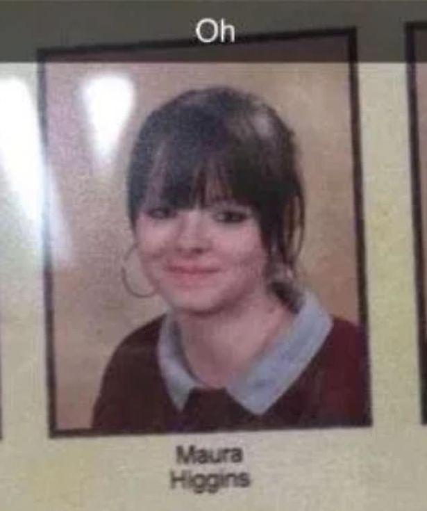A yearbook photo of Love Island star Maura Higgins.