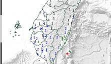搖很大!台灣東部凌晨2:36發生規模5.4強震 南部超有感