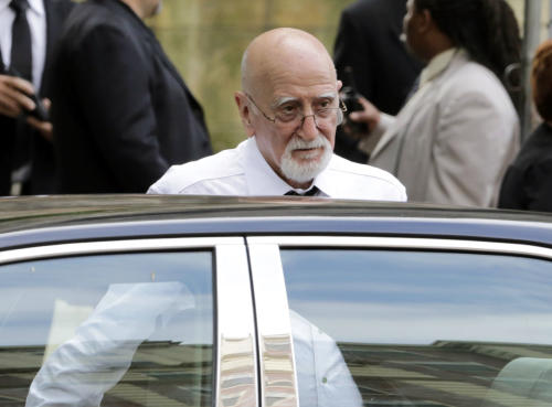 "Actor Dominic Chianese arrives for the funeral service of James Gandolfini, star of ""The Sopranos,"" in New York's the Cathedral Church of Saint John the Divine, Thursday, June 27, 2013. The 51-year-old actor died of a heart attack last week while vacationing in Italy with his son.(AP Photo/Richard Drew)"