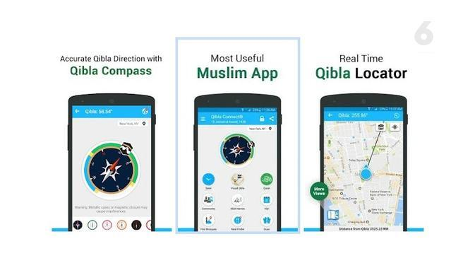 Aplikasi Kompas Kiblat Pilihan