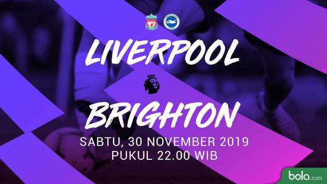 Link Live Streaming TVRI: Liverpool vs Brighton