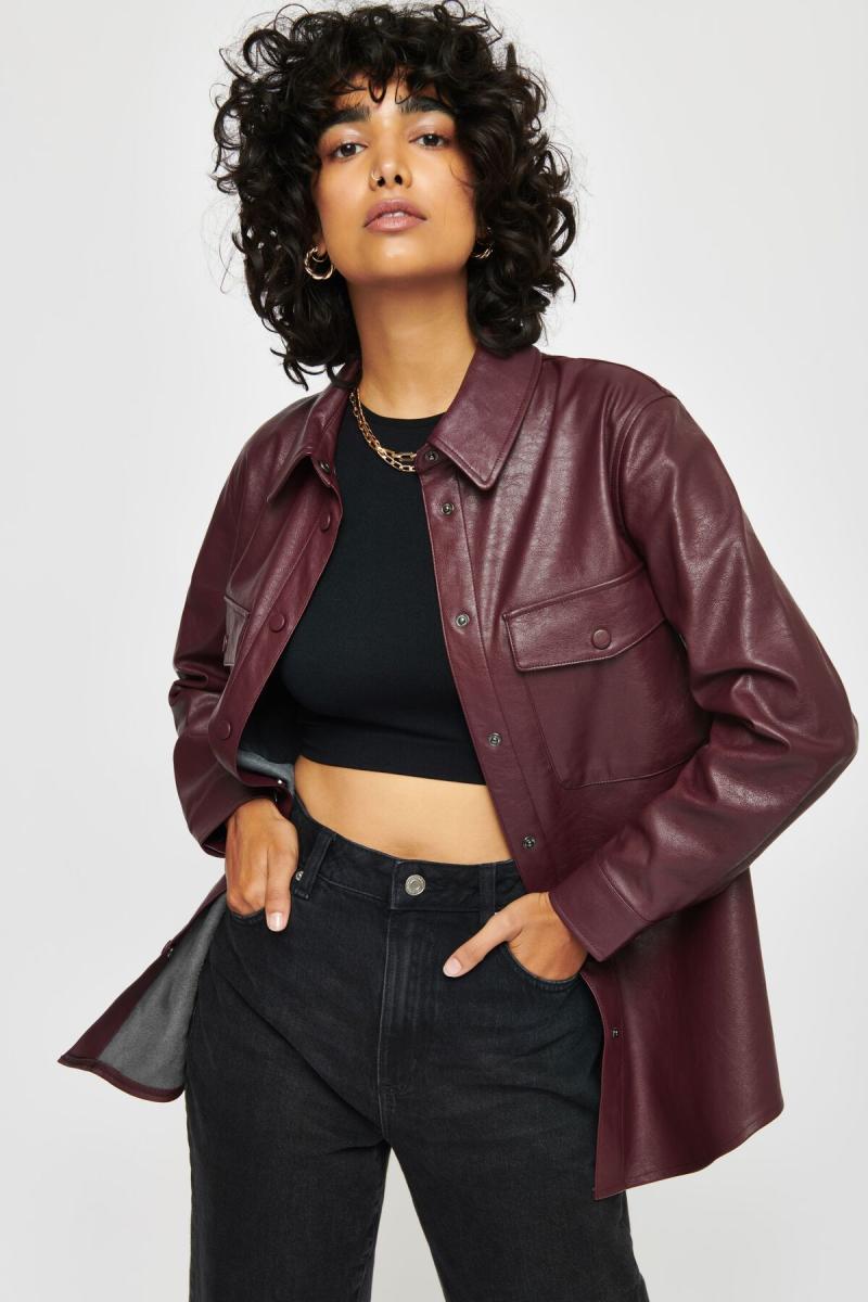 Brooklyn Faux Leather Shacket