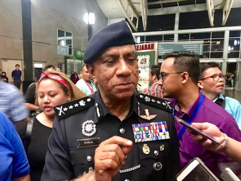 Johor police chief Datuk Mohd Khalil Kader Mohd cautioned the public against purchasing contraband liquor. — Picture by Ben Tan