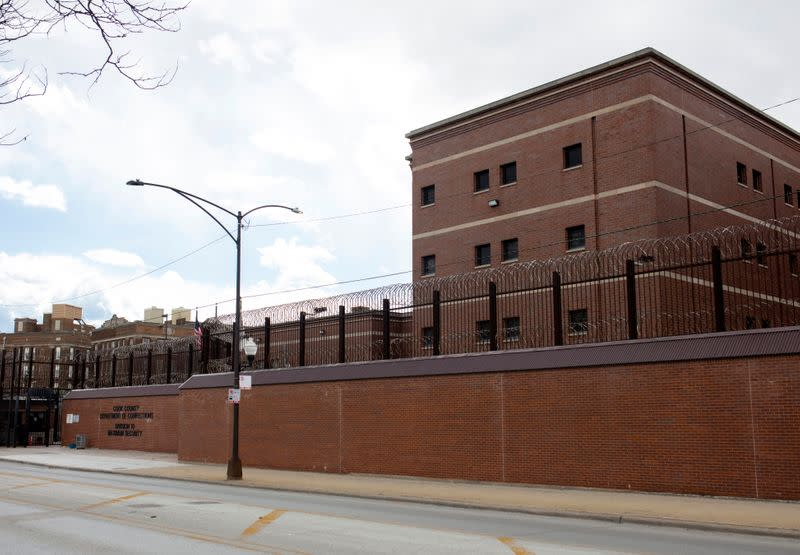 The exterior of Cook County Jail in Chicago