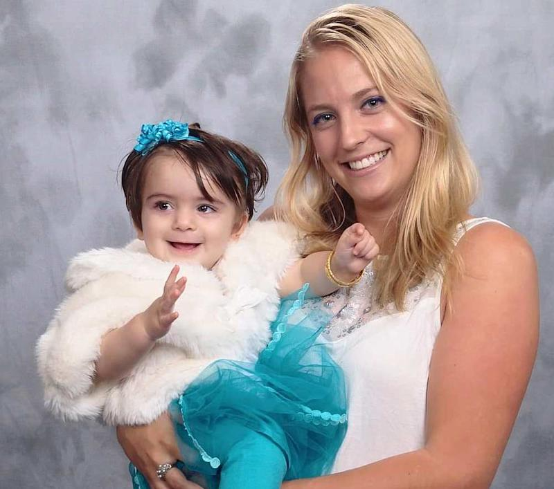 Genevieve Uys with her DNA-child from California in the US. — Picture courtesy of Genevieve Uys