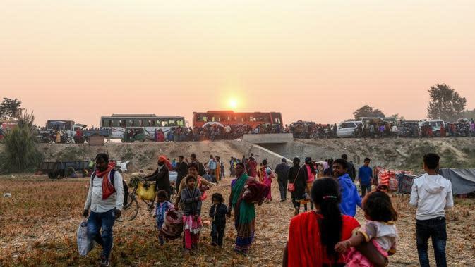 Pada tahun 2016, pengadilan tertinggi Nepal mengarahkan pemerintah untuk mencegah pertumpahan darah hewan di Festival Gadhimai di Baryarpur, Nepal. (AFP)