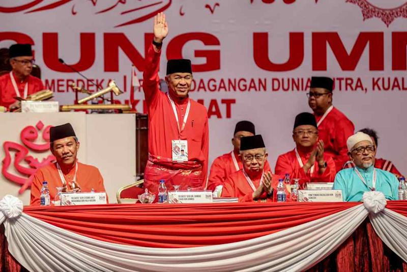 Umno president Datuk Seri Ahmad Zahid Hamidi during the opening ceremony of the 2019 Umno General Assembly at Putra World Trade Centre in Kuala Lumpur December 6, 2019. ― Picture by Firdaus Latif