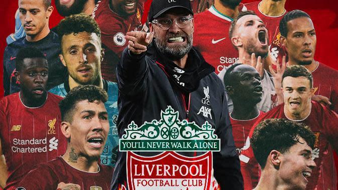 Liverpool - Ilustrasi Jurgen Klopp dan Pemain (Bola.com/Adreanus Titus)