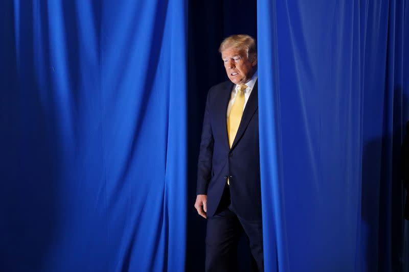 U.S. President Trump attends prisoner reentry program ceremony at the Metropolitan Police Department in Las Vegas, Nevada