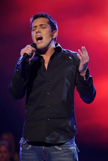 David Hernandez performs as one of the top 16 contestants on the 7th season of American Idol.