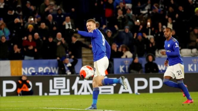 Striker Leicester City, Jamie Vardy.