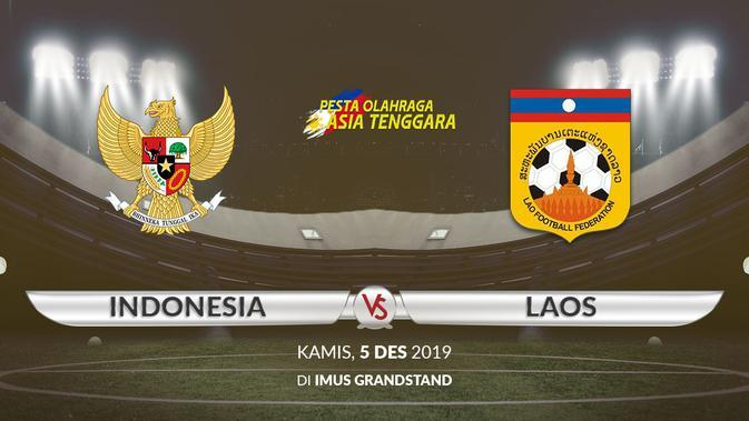 Sea Games 2019 - Sepak Bola - Indonesia Vs Laos 2 (Bola.com/Adreanus Titus)