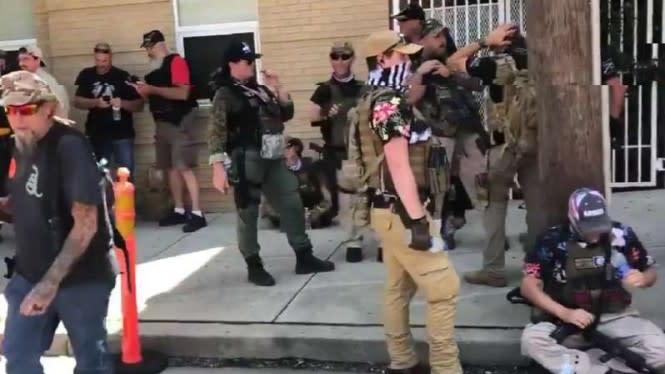 Amerika Mencekam, Usai Milisi Hitam Kini Muncul Kelompok Bersenjata