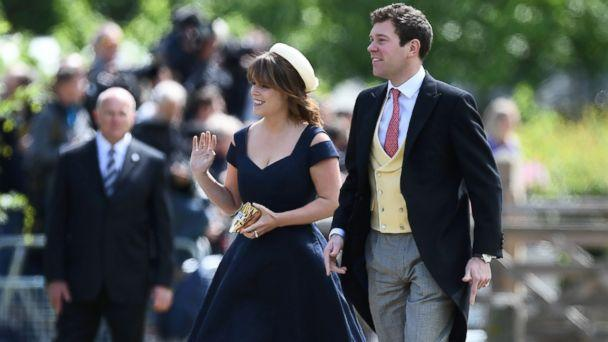 PHOTO: Britain's Princess Eugenie arrives for the wedding of Pippa Middleton and James Matthews at St Mark's Church in Englefield, west of London, on May 20, 2017. (Justin Tallis/AFP/Getty Images)