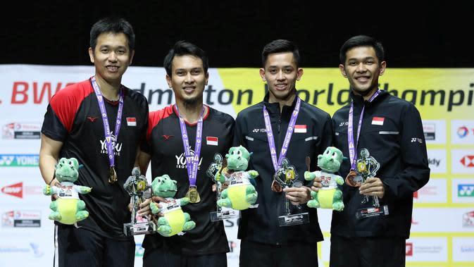 Hattrick Juara Dunia, Ahsan / Hendra Cetak Sejarah untuk Indonesia