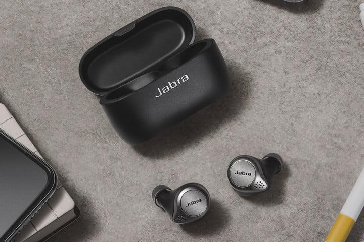 jabra elite 75t true wireless earbuds titanium black work