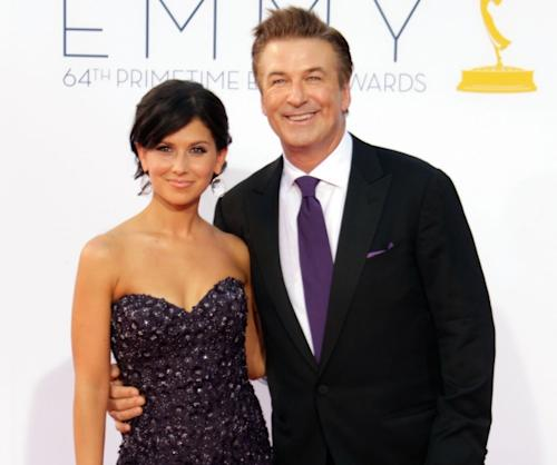 Alec Baldwin and Hilaria Thomas arrive at the the 64th Primetime Emmy Awards at Nokia Theatre L.A. Live in Los Angeles on September 23, 2012 -- Getty Premium
