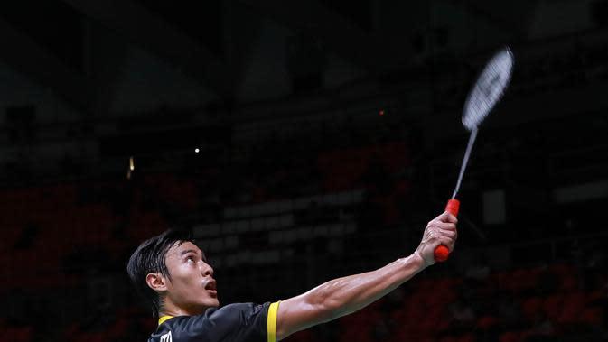 Tunggal putra Indonesia, Shesar Hiren Rustavito, pada perempat final Thailand Masters 2020, Jumat (24/1/2020). (PBSI)