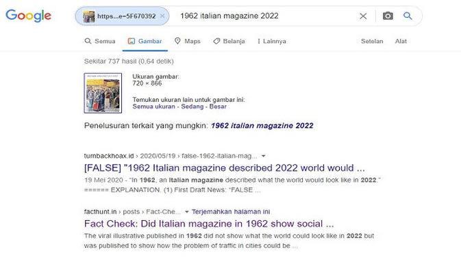 Gambar Tangkapan Layar Penelusuran Foto dengan Google Reverse Image