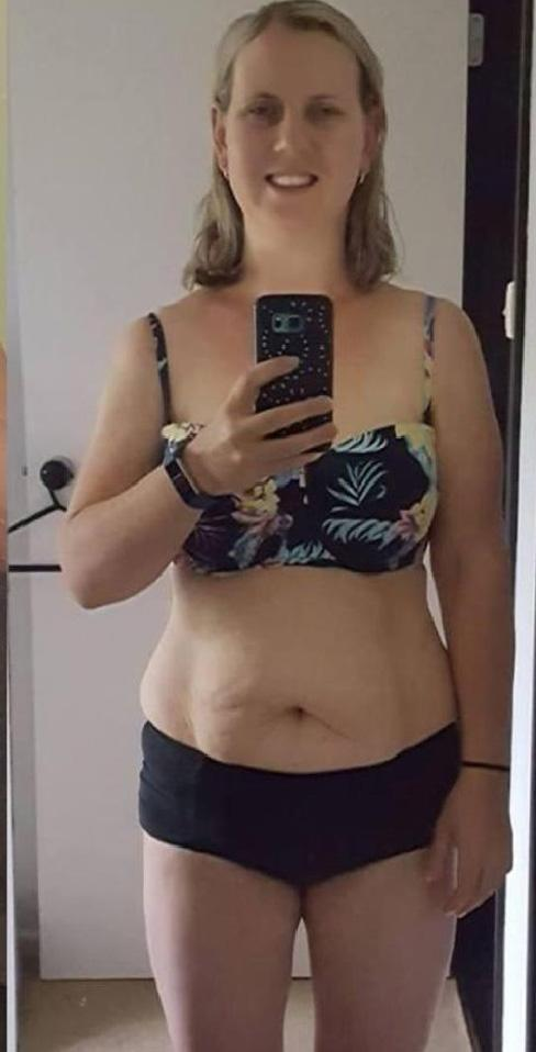Crystal couldn't be happier with her progress. Photo: Supplied
