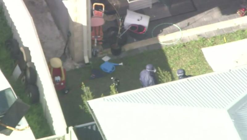 The woman was found in a hole in the Carlisle backyard. Source: 9 News
