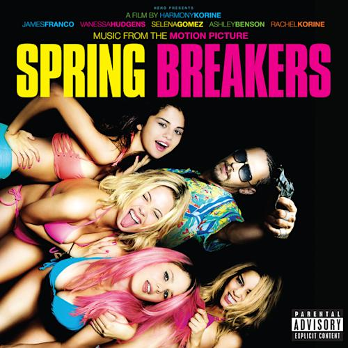 """This CD cover image released by Big Beat/WEA shows the movie soundtrack, """"Music From The Motion Picture Spring Breakers,"""" by various artists. (AP Photo/Big Beat/WEA)"""