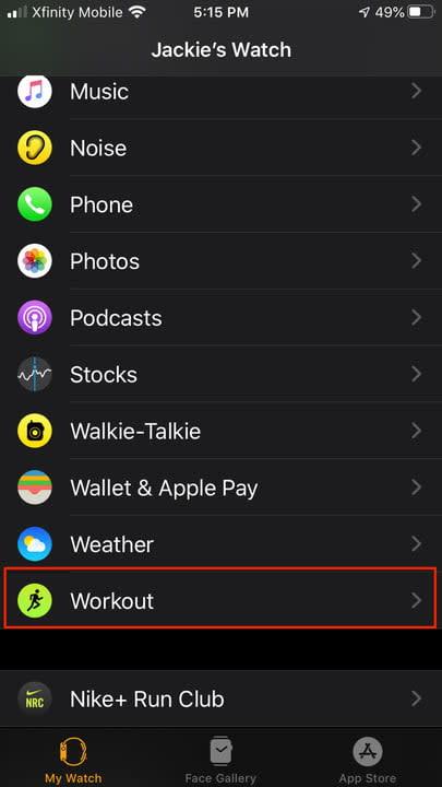 Apple Watch sports metrics
