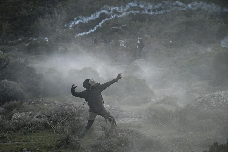 Protesters faced off against riot police on the island for the second day
