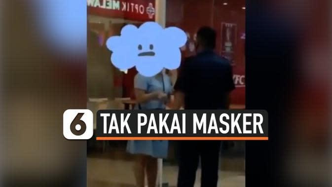 VIDEO: Tak Pakai Masker, Wanita Teriak Histeris Diseret Keluar Mal