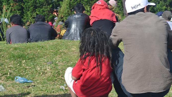 Bocah Gembel atau anak berambut gimbal, Dieng. (Foto: Liputan6.com/Muhamad Ridlo)