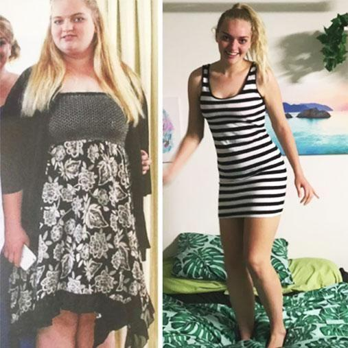 Josephine has lost 60kgs in 12 months. Photo: Youtube