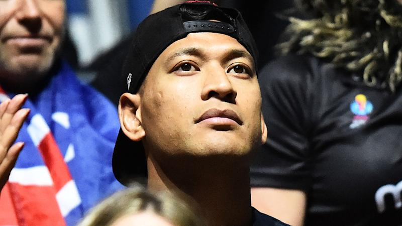 Israel Folau, pictured at the Netball World Cup.
