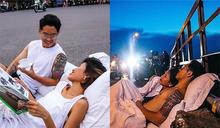 在大馬路上睡覺!越南婚紗照展現另類浪漫