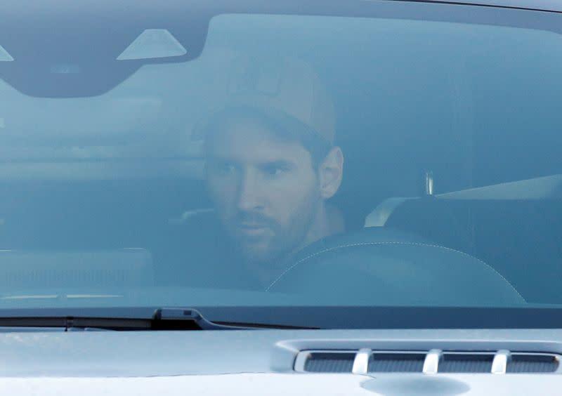 Messi back training with Barca after ending departure saga