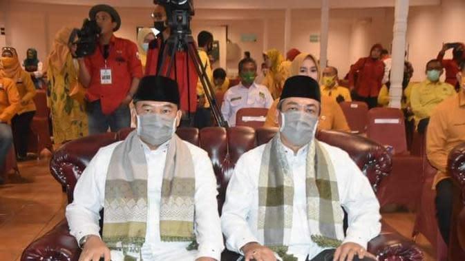 Paslon Ogan Ilir Ilyas-Endang yang didiskualifikasi dalam kepesertaan Pilkada Ogan Ilir (Dok. Humas Timses Ilyas-Endang / Nefri Inge)