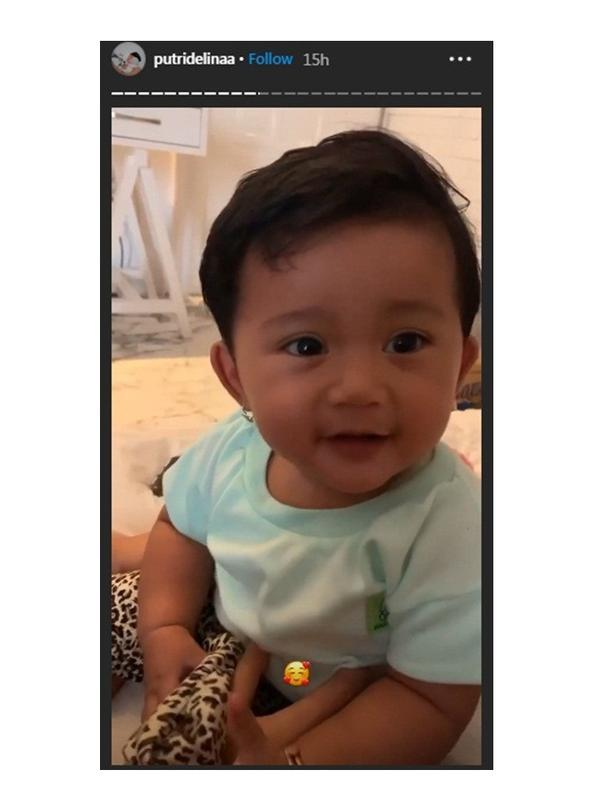 Bayi mendingan Lina (Sumber: Instagram/putridelinaa)