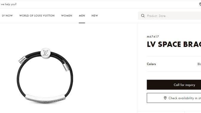 Gelang Kevin Sanjaya, Sumber: Website Louis Vuitton