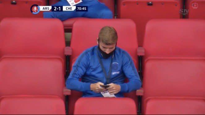 Timo Werner saat Chelsea dikalahkan Arsenal