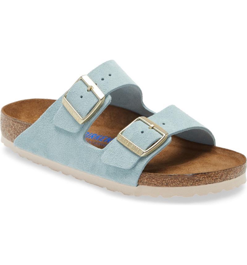 Birkenstock 'Arizona' Soft Footbed Suede Sandal. Image via Nordstrom.
