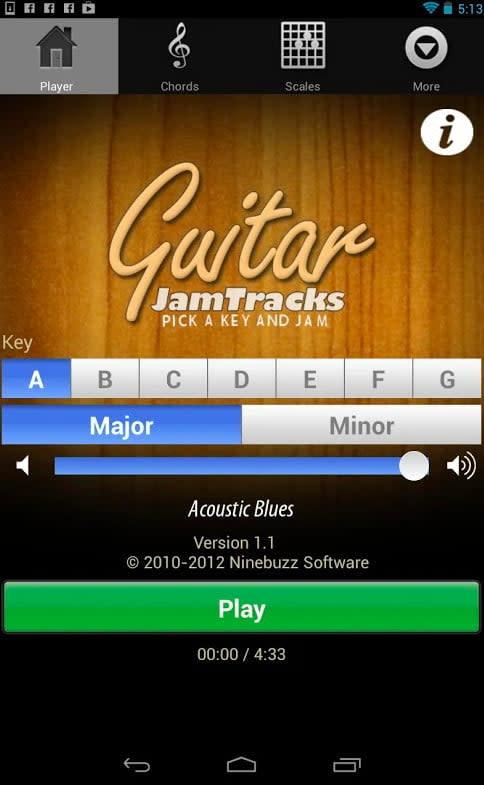 Guitar Jam Tracks guitar app