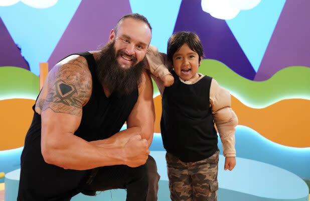 Watch WWE Intercontinental Champion Braun Strowman Smash the 'Ryan's Mystery Playdate' Door (Exclusive Video)