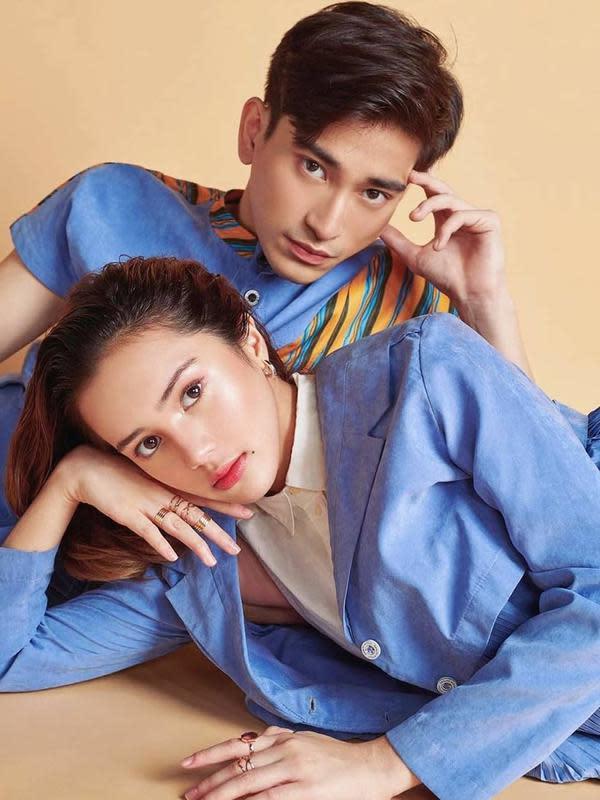 Potret Bio One dan Beby Tsabina saat pakai baju couple. (Sumber: Instagram/@bebytsabina)