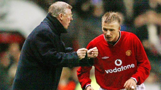 David Beckham (Manchester United). (AFP/Odd Andersen)