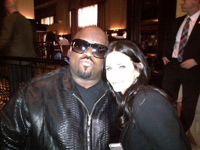 Ceelo Green and Courteney Cox